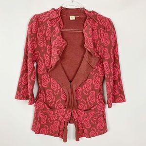 Anthropologie LYB Rose Sweater Cardigan